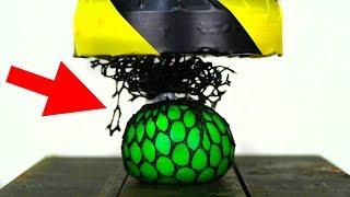 SLIME ANTISTRESS BALL VS HYDRAULIC PRESS