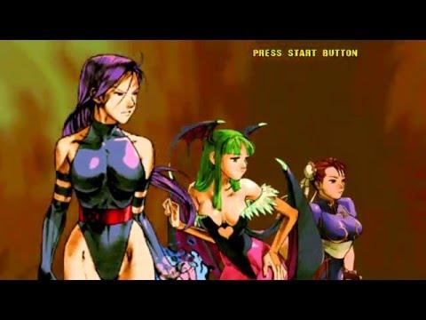 Marvel VS Capcom 2 (Xbox Live Arcade) Arcade Mode as Psylocke, Morrigan & Chun-Li