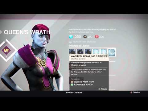 Destiny queen s bounties weekly reset review 11 08 2015 youtube