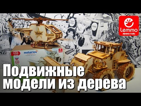 Видео КОНСТРУКТОР LEMMO Подвижные модели из дерева