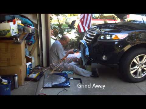 Hyundai Santa Fe Modifications Inverter Bull Bar Hella