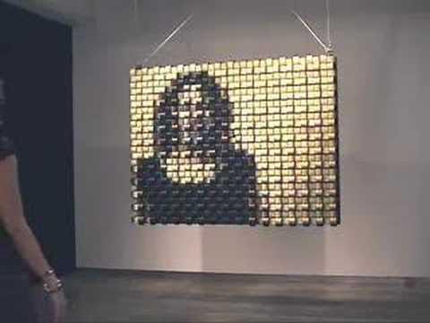 'Weave Mirror' (2007) by Daniel Rozin