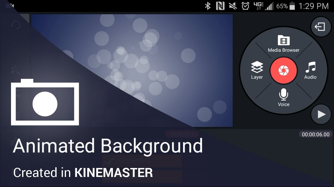 Animated Background In The KineMaster Mobile Video Editing App For Android