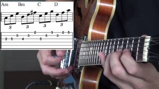 guitar lesson on arpeggios