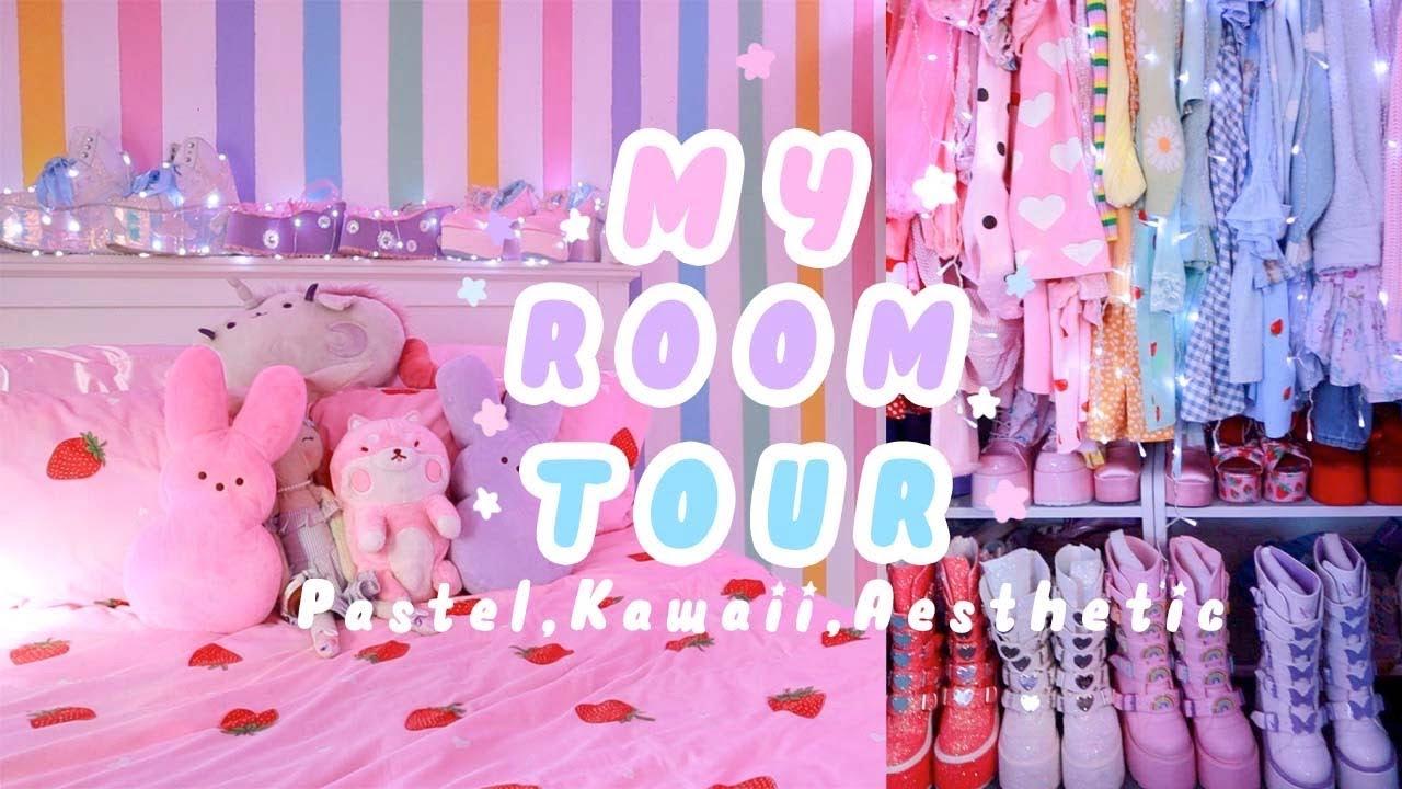 Room Tour My Pastel Aesthetic Kawaii Room Youtube