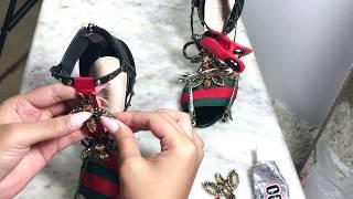 DIY Gucci shoes