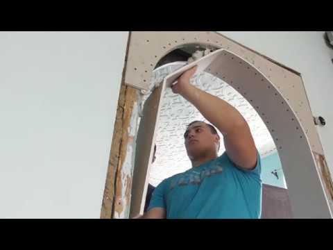 Сделать арку из гипсокартона своими руками видео