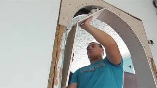 как сделать арку в дверном проеме деревянного дома
