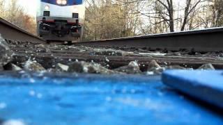Camera Under A Fast Amtrak Train HD