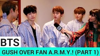 BTS Gush Over Their Fan A.R.M.Y. & Imitate Justin Bieber! (PART 1)