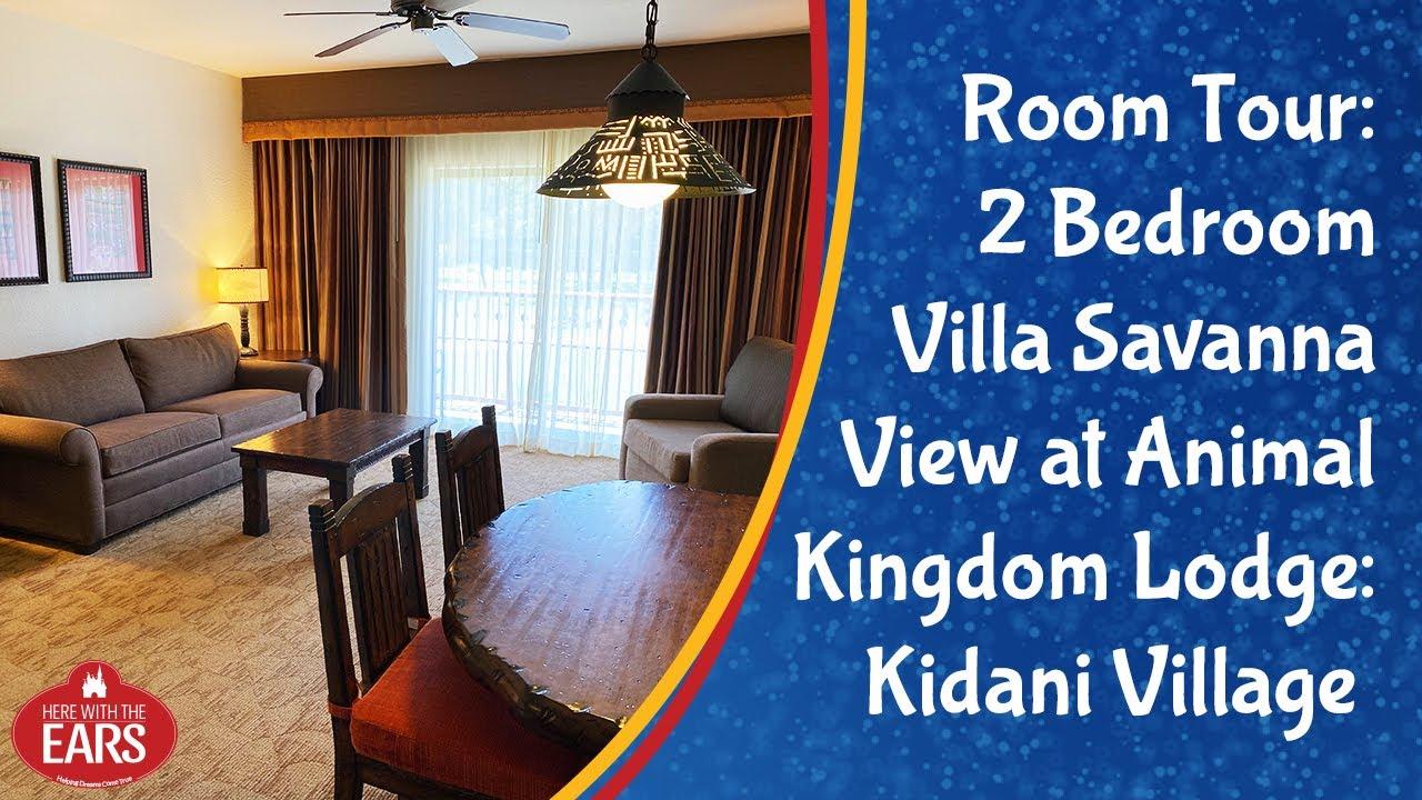 Akl Kidani Village 2 Bedroom Villa Savanna View Room Tour Youtube