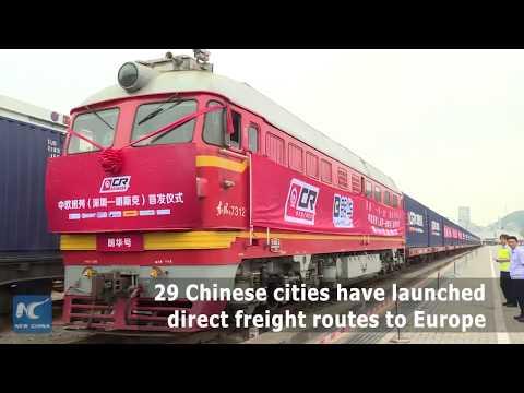 New Sino-European freight train leaves for Belarus