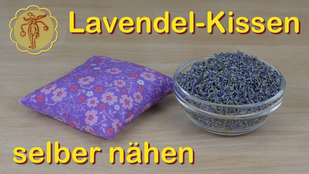 lavendel kissen selber n hen youtube. Black Bedroom Furniture Sets. Home Design Ideas