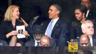 Barack obama's Wife Got Jealous And Made Him To Switch Seats! !  So Funny! !