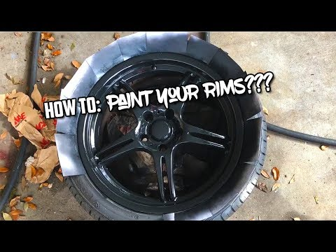 How To: Spray Paint Your Cars Wheels! #DIYMECHANIC