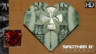 Origami ♥ Dollar Bill Heart + Quarter