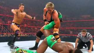 Jack Swagger vs The Miz vs Carlito vs Kofi Kingston - United States Championship [ Français ]