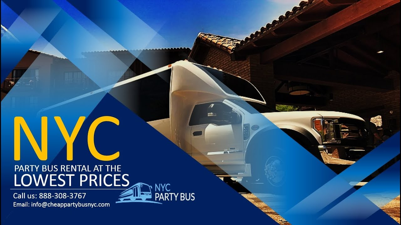 NYC Party Bus Rental at The Lowest Prices