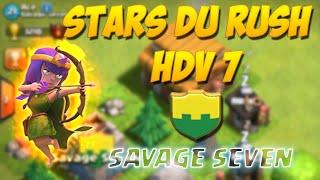 Les Aventures de BFA #7 Les petits HDV Stars du Rush chez Savage Seven | Clash Of Clans Français