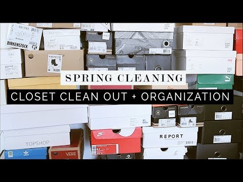 🌸SPRING CLEANING 2018🌸Cleaning Out My Closet + Organization TIPS!