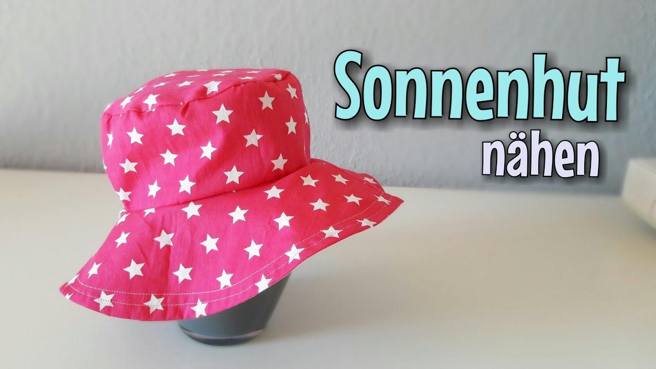 Kinder Sommerhut - Nähanleitung - OHNE Schnittmuster - Anfänger ...