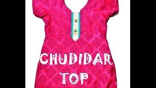 Chudidar top - marking, cutting & stitching