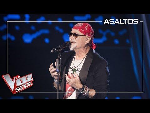 Frank Mercader Canta 'Sorry Seems To Be The Hardest Word' | Asaltos | La Voz Senior Antena 3 2019
