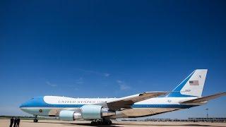 President Barack Obama arrives in Kansas Jan. 21