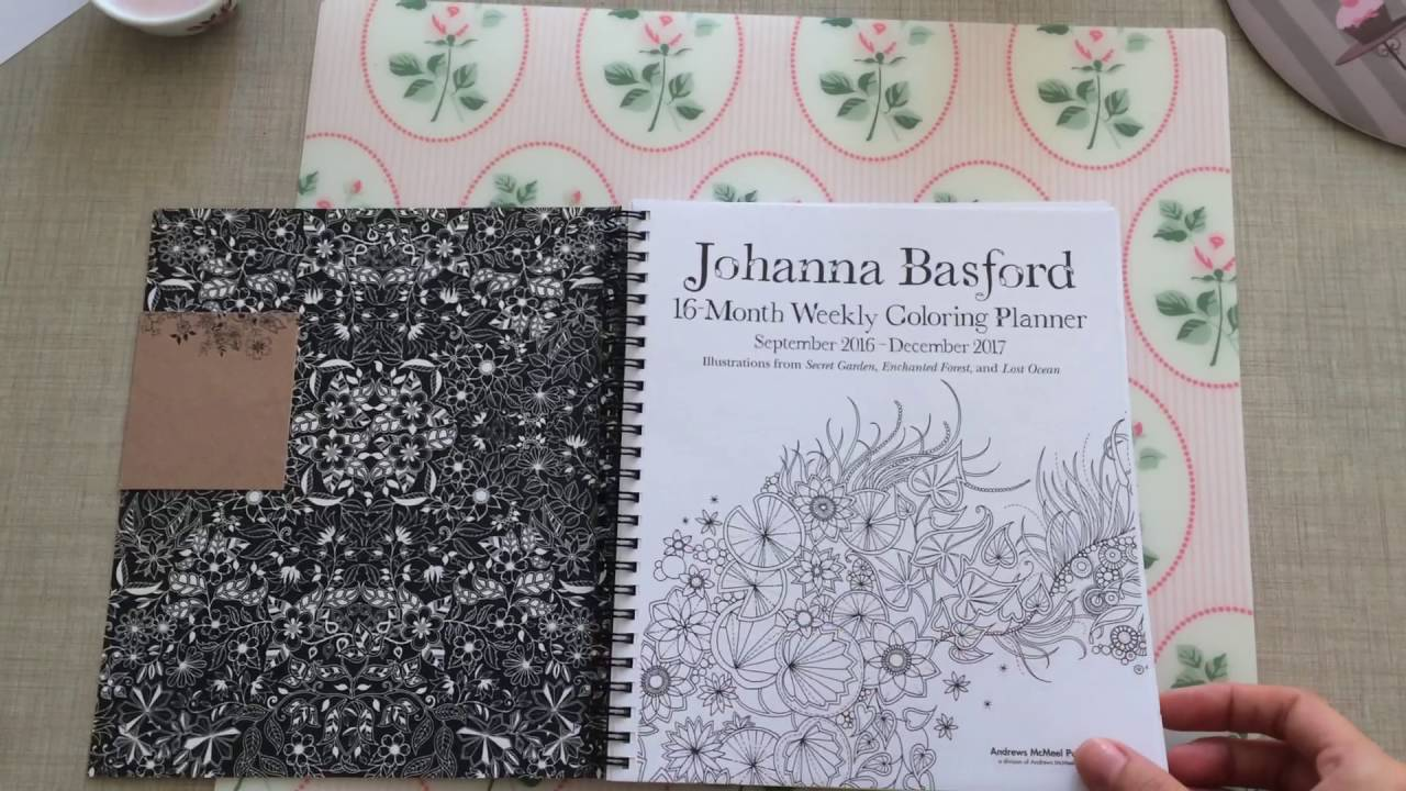 johanna basford 16 month weekly coloring planner youtube