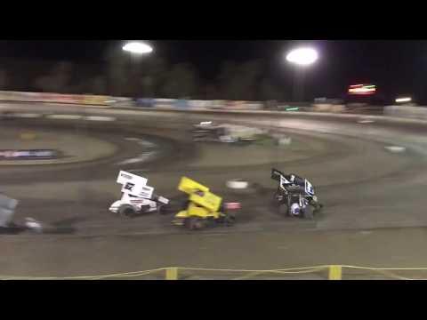 Grant Duinkerken 305 Sprint Car Heat Race Win Bakersfield Speedway 9-15-18