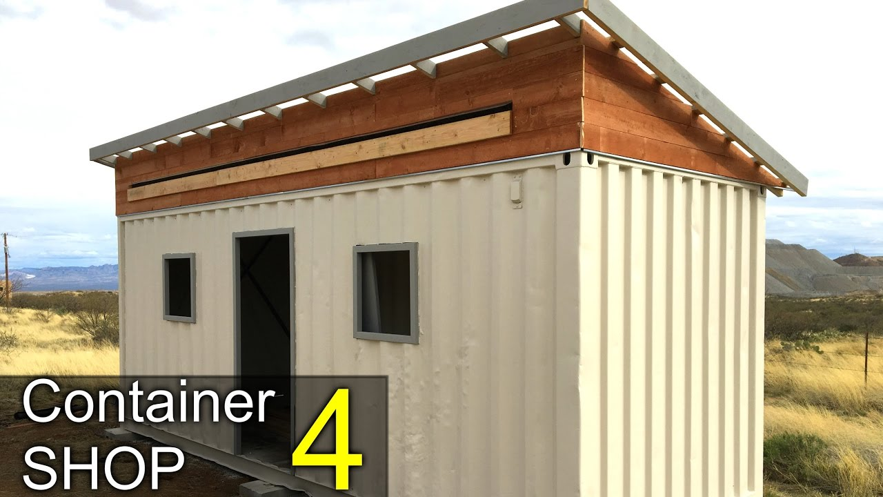 Painting The Shipping Container Shop Part 4 Awning Windows Youtube