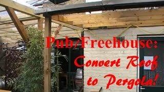(day Time Pub Diy) Garden - Bbq Area Turned Into A Pergola.