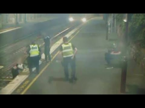 Caught On Camera: Close Call For Woman Who Fell On Australian Train Tracks