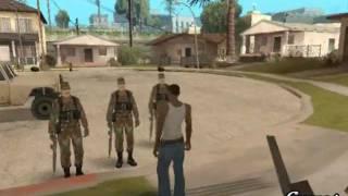 CJ es reclutado a dar el Servicio Militar 1/3 - Gta San Andreas Loquendo