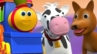 Боб, Поезд |Учитесь крестьянское хозяйство песни с Бобом в русский| животное звук песня