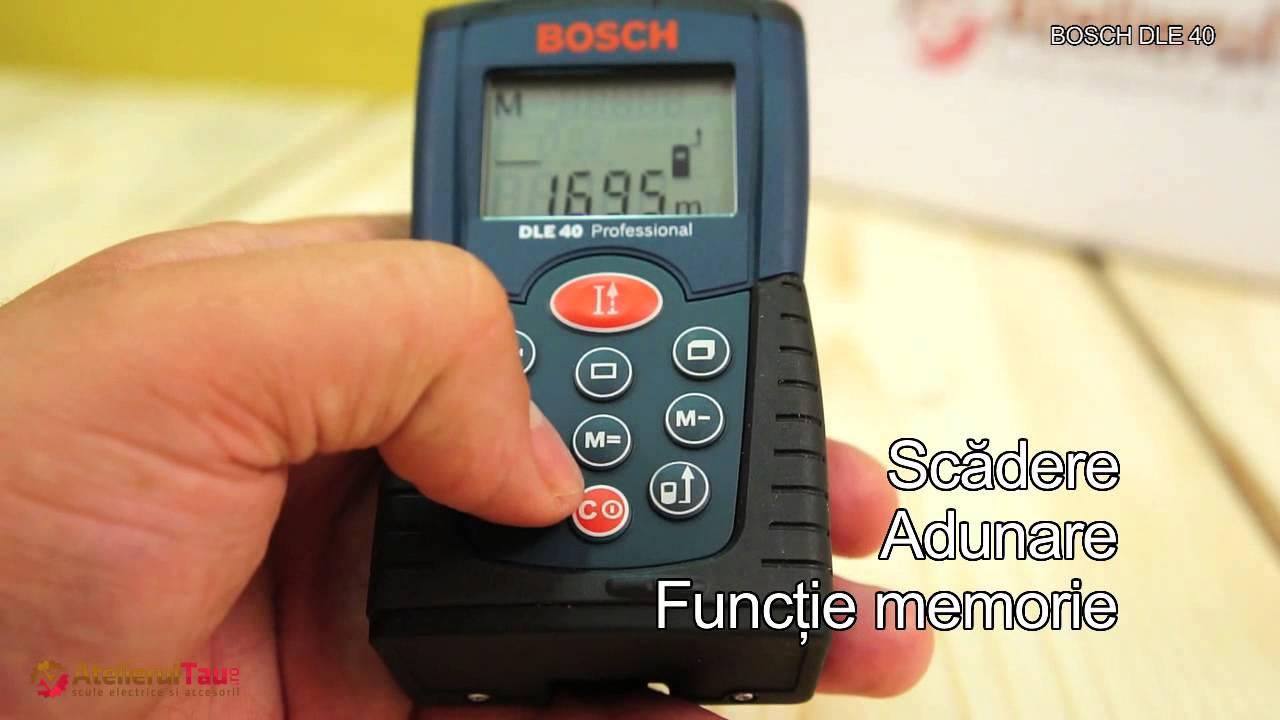 Bosch Entfernungsmesser Dle 40 : Bosch dle telemetru laser set de livrare atelierultau