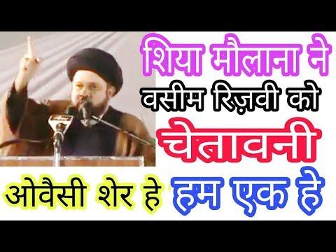 Shia Molana Best Speech On Asaduddin Owaisi And Waseem Rizvi On Babri MAsjid