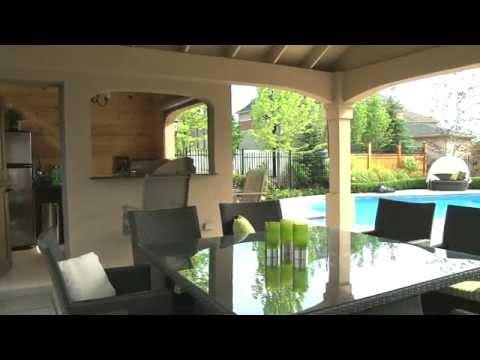 Custom Pool Cabana From Cedar Wood Structures Inc Youtube