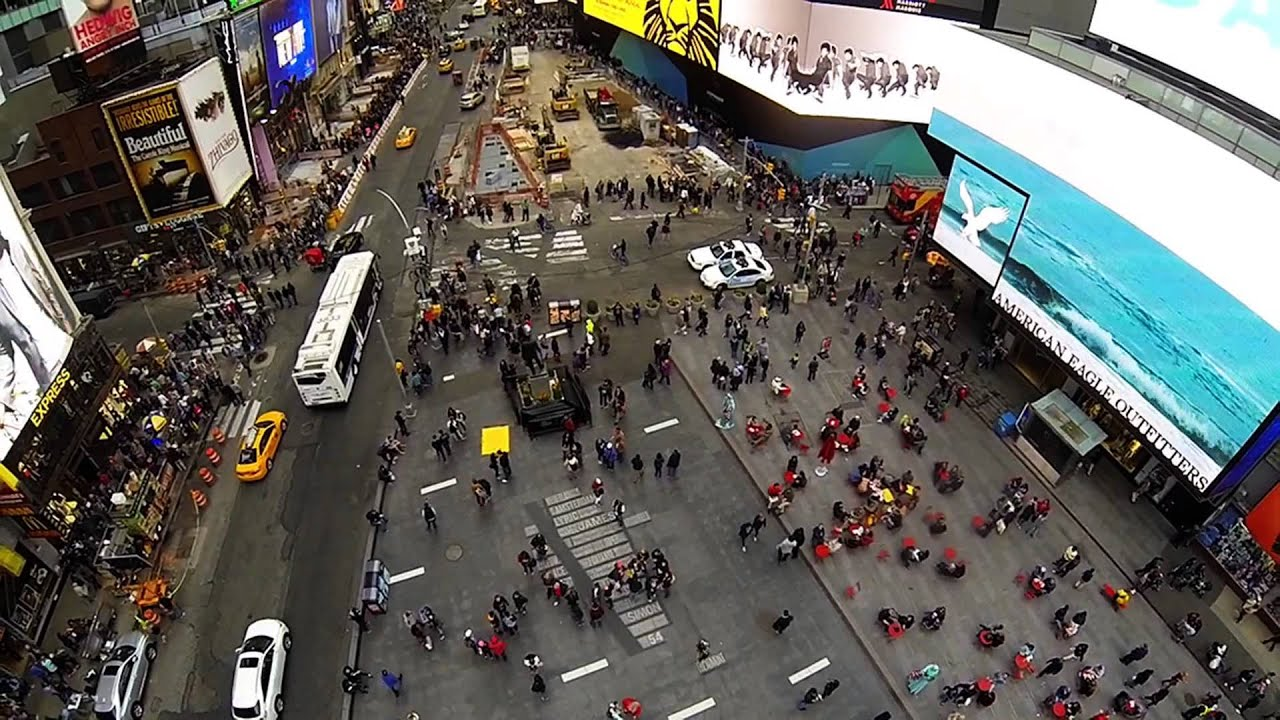 New Jersey Supercross Times Square GoPro Drone - YouTube