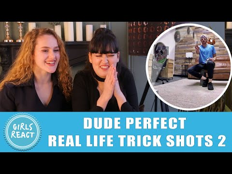 Girls React – Dude Perfect – Real Life Trick Shots 2 Dude Perfect.Reaction