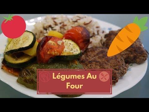 légumes-au-four-et-steak-haché-🍴