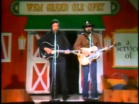 Johnny Cash   Hank Williams, Jr    Kaw Liga   YouTube