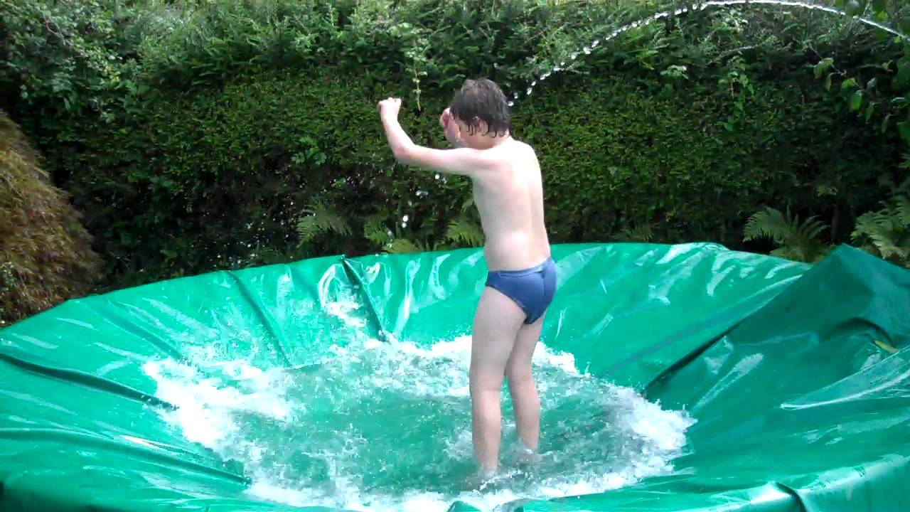 the swimming pool trampoline has been invented youtube