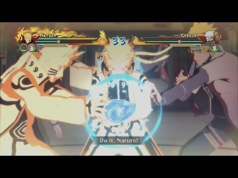 Naruto Shippuden Ultimate Ninja Storm Revolution - Bijuu Mode Naruto Vs Kakashi Gameplay