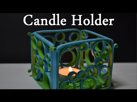 Paper Quilling Art- How to make a Candle Holder - Birthday Gift Ideas - DIY Crafts Tutorials