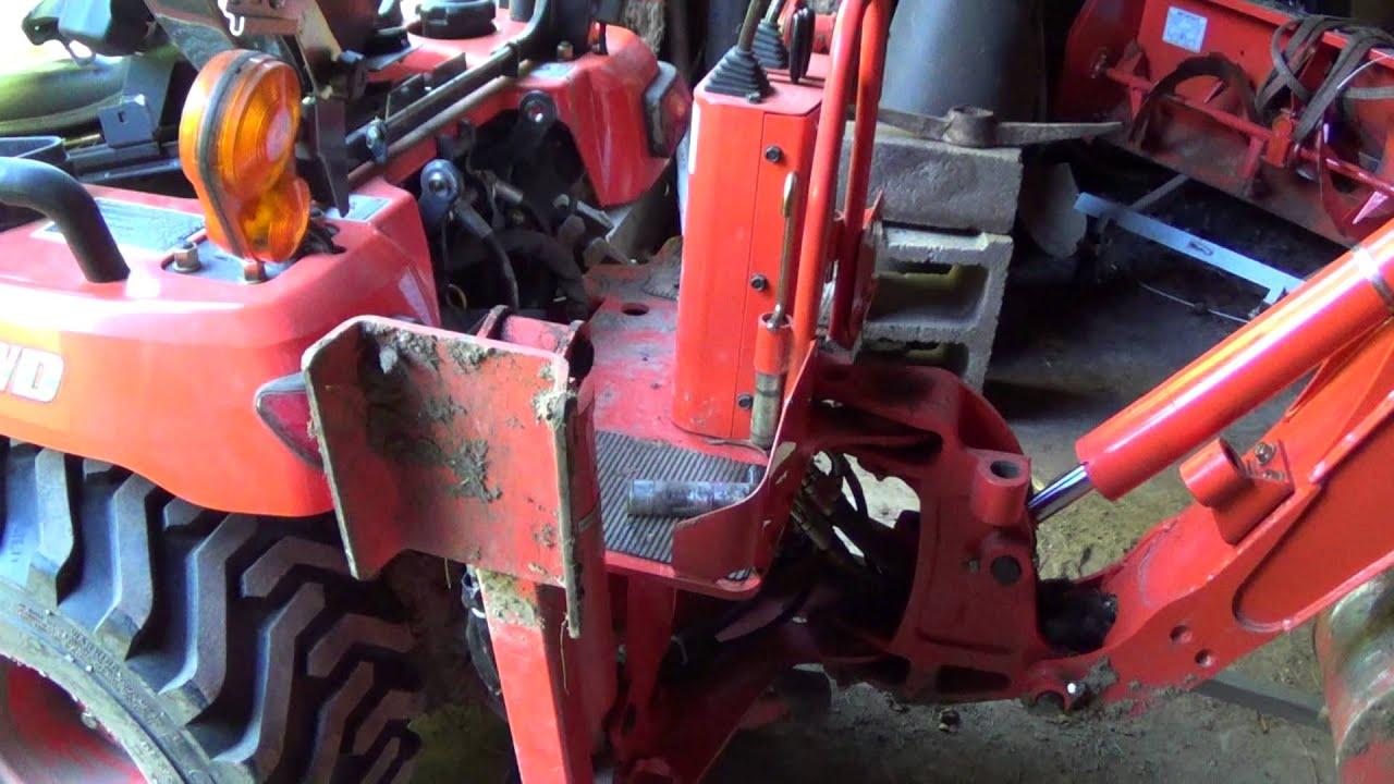 Kubota Three Point Hitch : Kubota bx removing backhoe and installing point