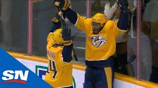 Wayne Simmonds Scores First Goal With Nashville  Predators After Great Feed From Ryan Ellis