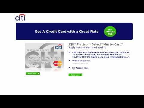 Citi Platinum Select MasterCard - CompareCards.com