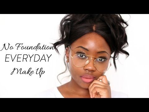 NO FOUNDATION EVERYDAY EASY MAKE UP TUTORIAL| Lizzie Loves