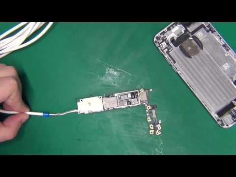 Утопленник. iPhone 6 не включается. Короткое замыкание